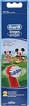 Духи, Парфюмерия, косметика Детские насадки для зубных щеток EB10, Mickey - Oral-B Stages Power Disney