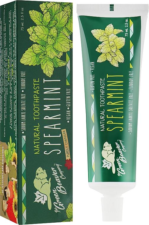 """Зубная паста """"Spearmint"""" с вкусом мяты - Green Beaver Toothpaste"""