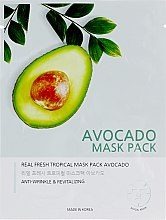 "Духи, Парфюмерия, косметика Тканевая маска для лица ""Авокадо"" - Joylife Avocado Mask Sheet"