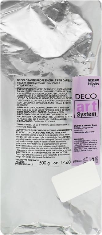 Освітлювальний порошок в пакетах - Dikson Deco Art — фото N1
