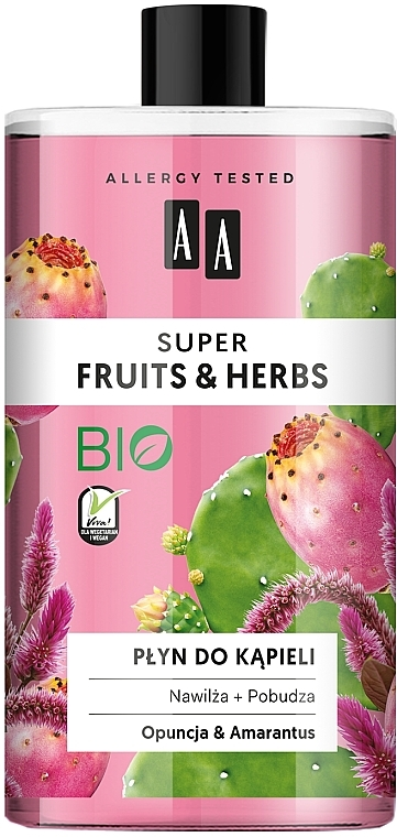 "Пена для ванны ""Опунция и амарант"" - AA Super Fruits & Herbs Bath Foam"