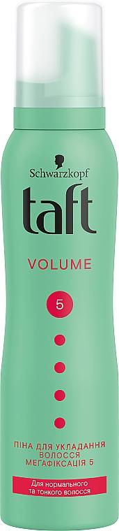 """Пена-мусс для волос """"Объем"""", мегафиксация 5 - Taft True Volume 5 Mousse"""