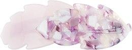 """Духи, Парфюмерия, косметика Заколка-автомат для волос """"Дубовые листочки"""", 1171, фиолетовая - Элита"""