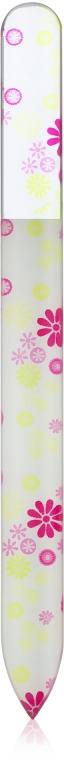 Пилка для ногтей стеклянная с покрытием, 140х12х3 мм, цветы - Baihe Hair