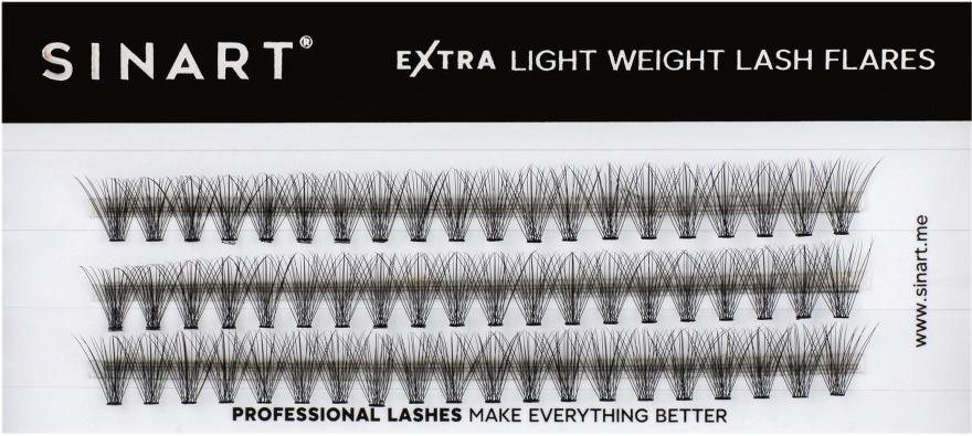 Ресницы пучковые, 10 мм - Sinart Extra Light Weight Lash — фото N1