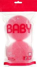 Духи, Парфюмерия, косметика Набор мочалок для детей, розовые - Suavipiel Baby Soft Sponge