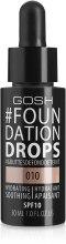 Духи, Парфюмерия, косметика Тональный крем - Gosh Foundation Drops SPF10