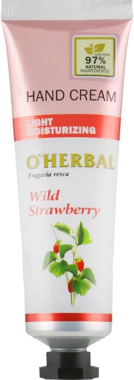 Крем для рук с земляникой - O'Herbal Light Moisturizing Hand Cream Wild Strawberry