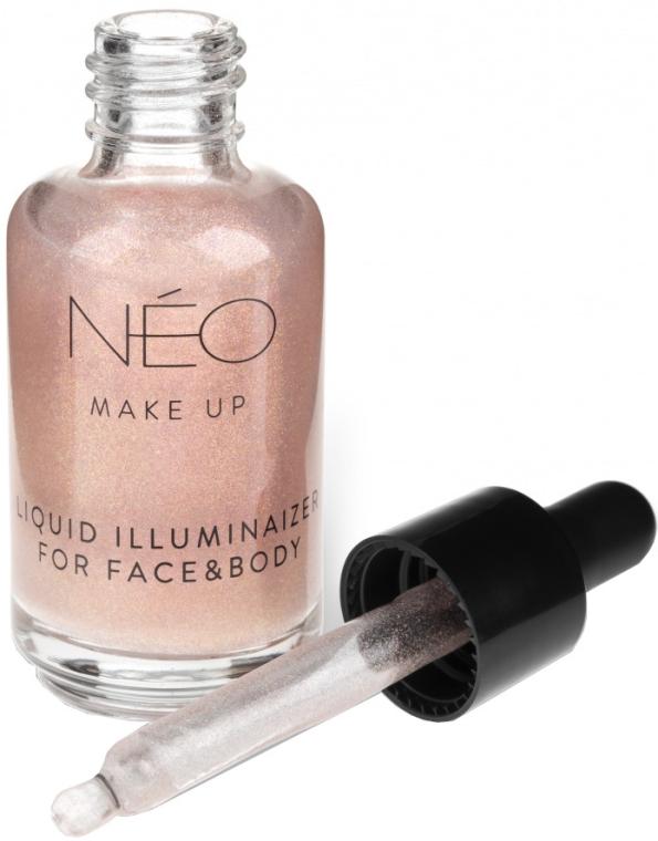 Гель для лица и тела жидкий, сияющий - NEO Make up