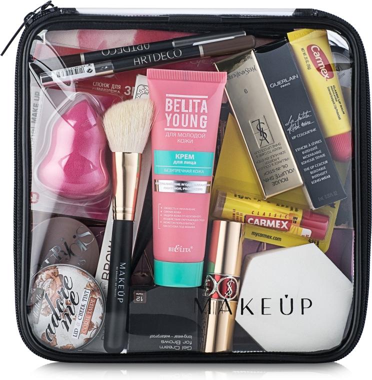 """Косметичка прозрачная """"Visible Bag"""" 20x20x8см (без наполнения) - Makeup"""