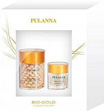 Духи, Парфюмерия, косметика Набор - Pulanna Bio-Gold (cr/60g + eye/gel/21g)