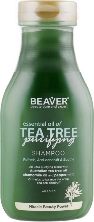 Шампунь для жирных волос с маслом чайного дерева - Beaver Professional Essential Oil Of Tea Tree Shampoo