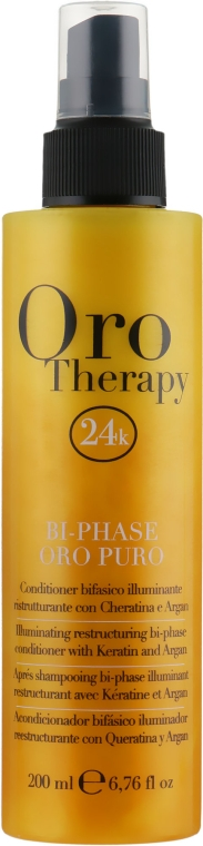 Восстанавливающий двухфазный спрей-кондиционер с кератином - Fanola Oro Therapy