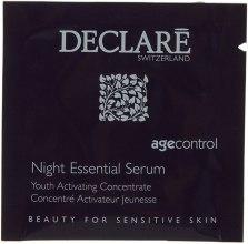Духи, Парфюмерия, косметика Ночная восстанавливающая сыворотка для лица - Declare Age Control Night Repair Essential Serum (пробник)