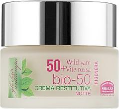 Духи, Парфюмерия, косметика Крем ночной восстанавливающий 50+ - Helan Elisir Antitempo Bio-50 Rigenera Restoring Cream Night
