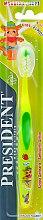 """Духи, Парфюмерия, косметика Детская зубная щетка """"Kids Junior"""", салатовая - PresiDENT Kids Junior Soft"""
