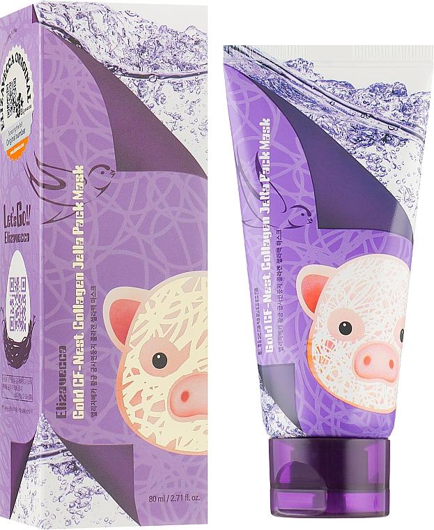 Маска для лица с экстрактом ласточкиного гнезда - Elizavecca Face Care Gold Cf-Nest Collagen Jella Pack Mask