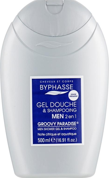 Шампунь-гель для душа для мужчин - Byphasse Men Gel-Shampoo 2 In 1 Groovy Paradise