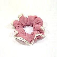 Духи, Парфюмерия, косметика Резинка для волос P0175, 11 см, розовая - Akcent