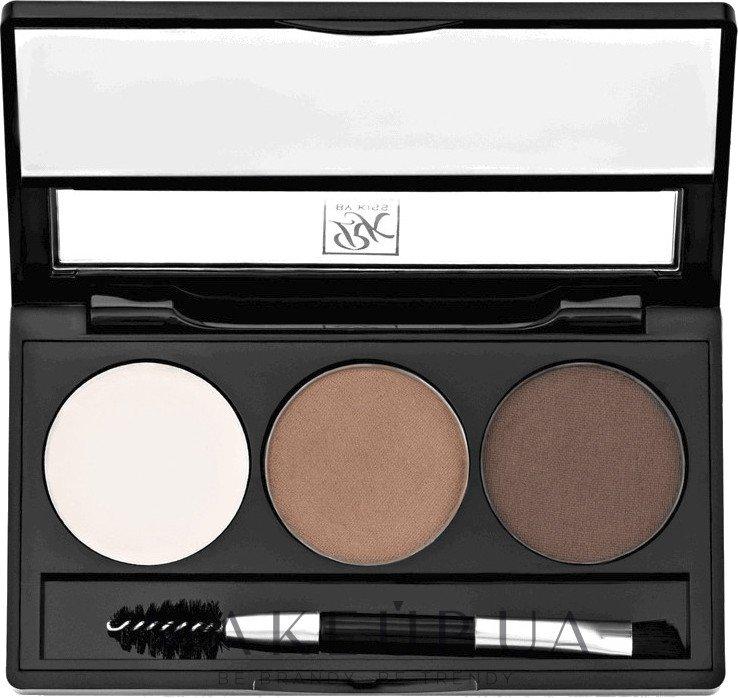 Набор для моделирования бровей - Kiss Go Brow Eyebrow Kit — фото Dark Brown