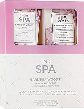 Парфумерія, косметика Набір - CND Spa Gardenia Woods (scr/248ml + lot/248ml)