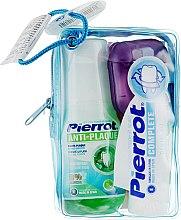 Духи, Парфюмерия, косметика Набор дорожный, салатовый - Pierrot Compact Dental Kit (m/wash/60ml+tpst/25ml+floss/30м.+tbrsh/1шт.)