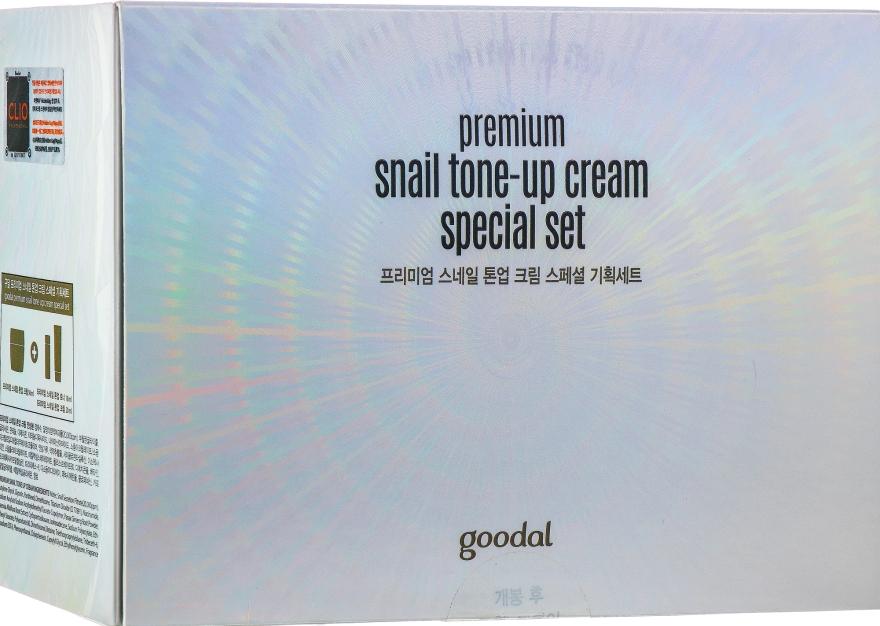 Набор - Goodal Premium Snail Tone-Up Special Set (cr/50ml + toner/18ml + cr/20ml) — фото N1