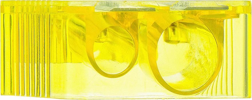 Точилка косметическая двойная 9199, желтая - SPL