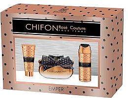 Духи, Парфюмерия, косметика Emper Chifon Rose Couture Pour Femme - Набор (edp/100ml + deo/200ml + b/lot/100ml)