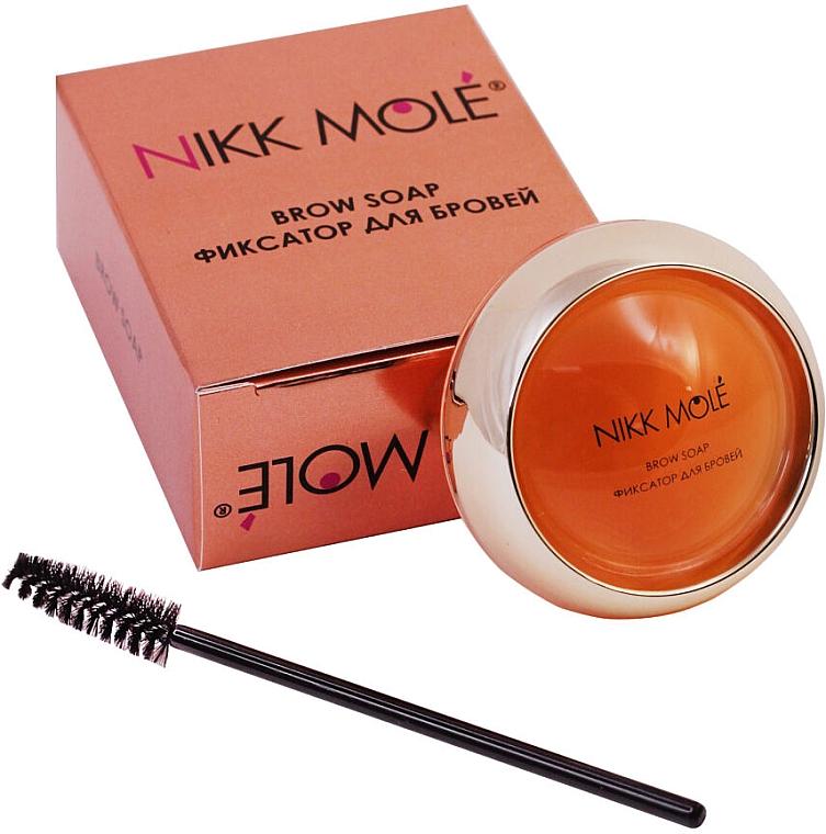 """Мыло-фиксатор для бровей """"Апельсин"""" - Nikk Mole Brow Soap Orange"""