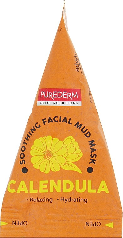 Маска грязевая для лица с календулой - Purederm Calendula Soothing Facial Mud Mask
