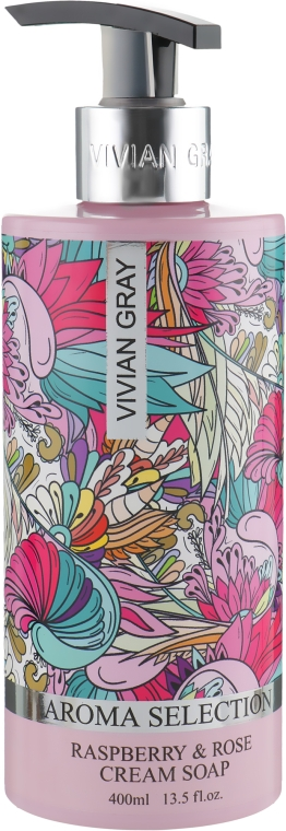 Жидкое крем-мыло - Vivian Gray Aroma Selection Raspberry & Rose Cream Soap