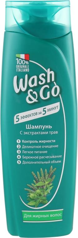 Шампунь с экстрактами трав для жирных волос - Wash&Go