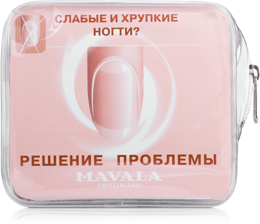 "Набор ""Слабые и хрупкие ногти"" - Mavala Set Thin and Fragile Nails (scientifique/2ml + cr/15ml + h/cr/30ml + shield/2х5ml + Mini buffer)"