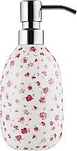 """Духи, Парфюмерия, косметика Дозатор для жидкого мыла """"Eva"""", фарфор, белый в цветок - Spirella"""