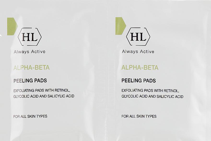 Отшелушивающие очищающие салфетки для всех типов кожи - Holy Land Cosmetics Alpha-Beta & Retinol Peeling Pads