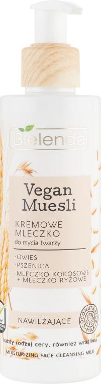 Молочко для умывания, увлажняющее - Bielenda Vegan Muesli Moisturizing Face Cleaning Milk