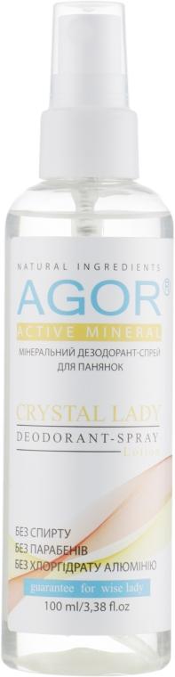 Дезодорант-спрей - Agor Activ Mineral Crystal Lady