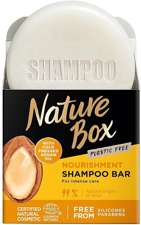 Твердый шампунь для питания волос с аргановым маслом холодного отжима - Nature Box Nourishment Vegan Shampoo Bar With Cold Pressed Argan Oil