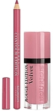 Духи, Парфюмерия, косметика Набор - Bourjois Rouge Edition Velvet Lipstick Dont Pink Of It (lipstick/7.7ml + lip/pencil/1.14g)