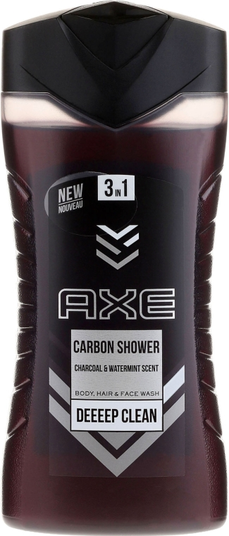 Гель для душа 3в1 - Axe Carbon Shower Gel