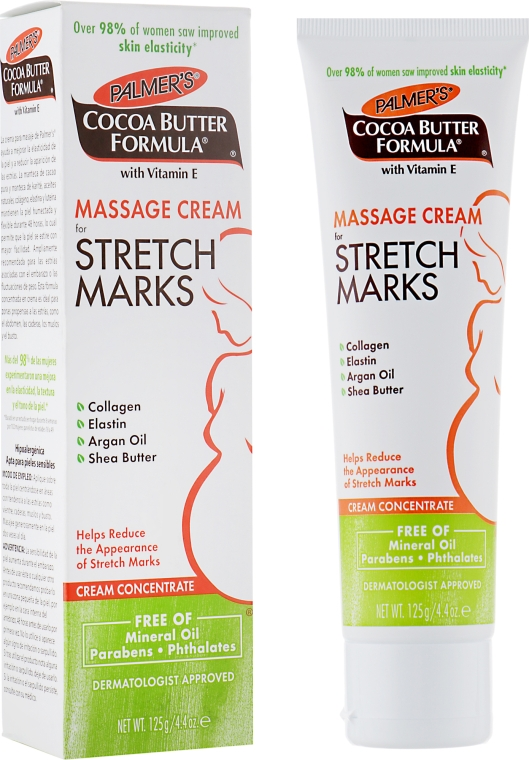 Массажный крем от растяжек - Palmer's Cocoa Butter Formula Massage Cream for Stretch Marks