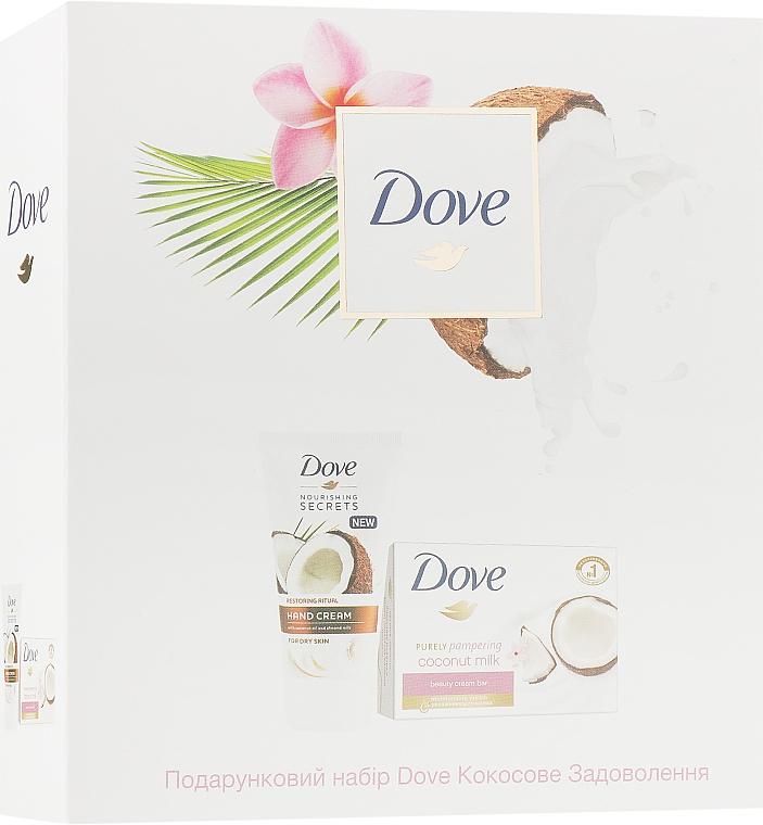 """Набор """"Кокосовое удовольствие"""" - Dove (soap/135g + h/cr/75ml)"""