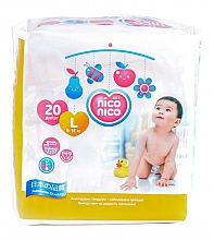 Духи, Парфюмерия, косметика Подгузники Travel Pack, размер 4 L (9-14 кг), 20 штук - Nico Nico