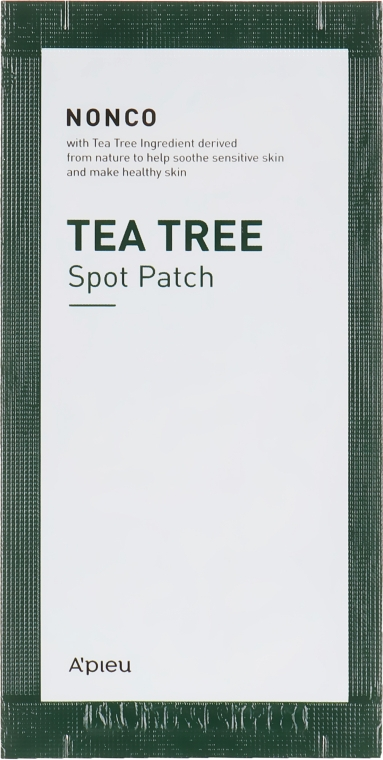 Патчи против прыщей с маслом чайного дерева - A'pieu Nonco Tea Tree Spot Patch