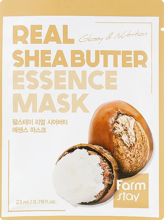 Тканевая маска - FarmStay Real Shea Butter Essence Mask