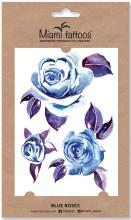 Духи, Парфюмерия, косметика Акварельные переводные тату - Miami Tattoos Blue Roses