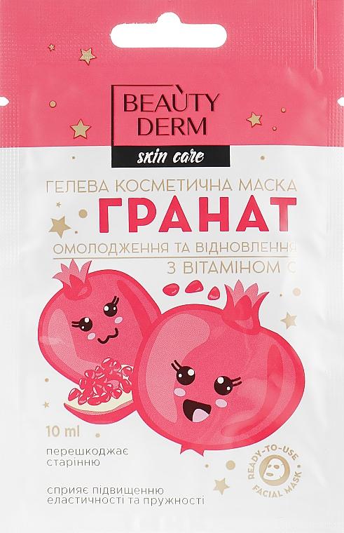 Гелевая косметическая маска с гранатом и витамином С - Beauty Derm Skin Care