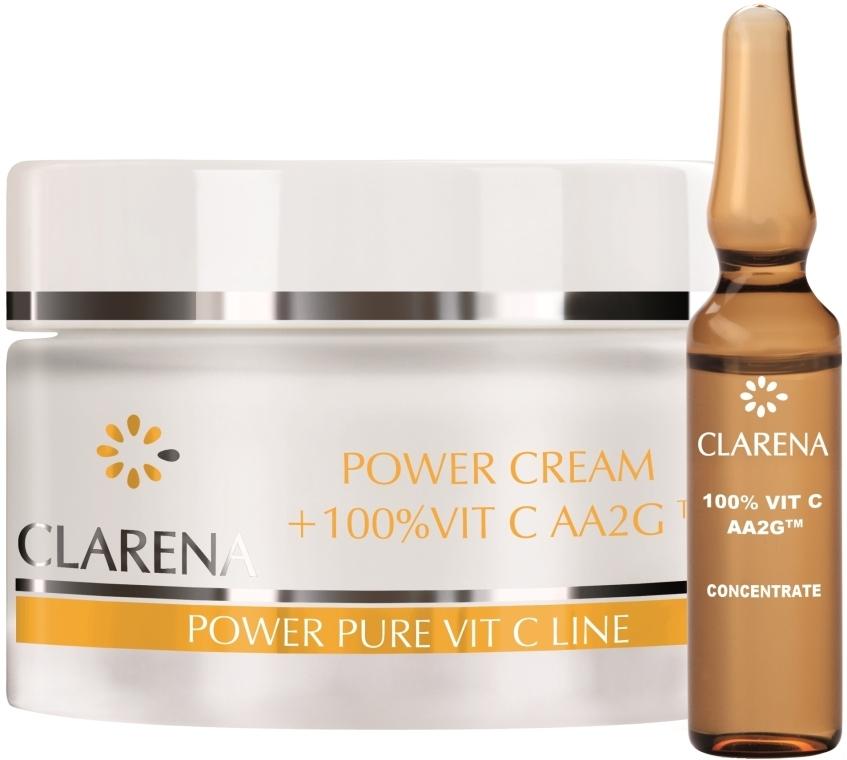 Крем со 100% активным витамином С и экстрактом из шелка - Clarena Power Cream 100% Vit C Aa2g