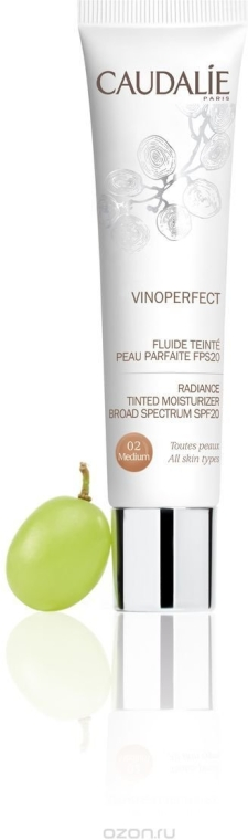 Увлажняющий флюид с тонирующим эффектом SPF20 - Caudalie Vinoperfect Radiance Tinted Moisturizer